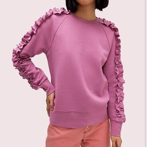 Kate spade RUFFLE PULLOVER IN RUFFLED PANSY